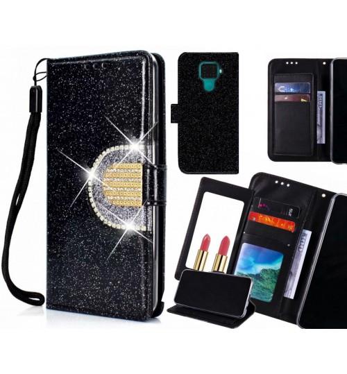 Huawei nova 5i Pro Case Glaring Wallet Leather Case With Mirror