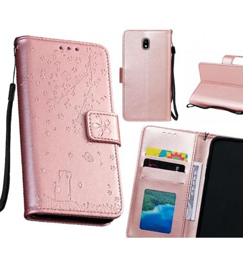 J7 PRO 2017 Case Embossed Wallet Leather Case