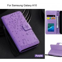 Samsung Galaxy A10 Case Embossed Wallet Leather Case