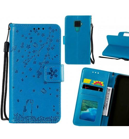 Huawei nova 5i Pro Case Embossed Wallet Leather Case