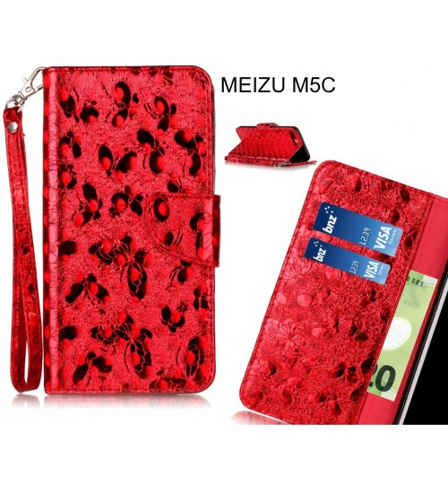 MEIZU M5C  case wallet leather butterfly case