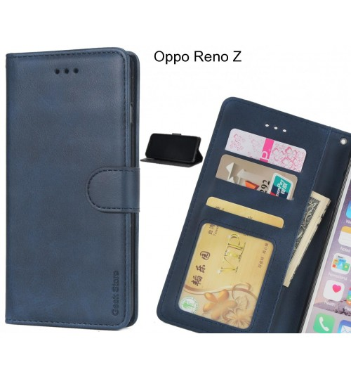 Oppo Reno Z case executive leather wallet case