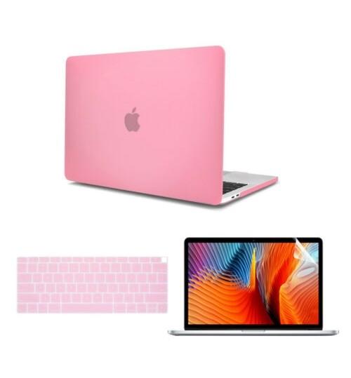 MacBook AIR  2018 2019 13 inch case 3 IN 1 Rubberized Hard Case
