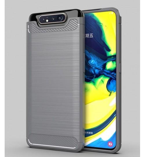 Samsung Galaxy A80 case rugged case with carbon fiber