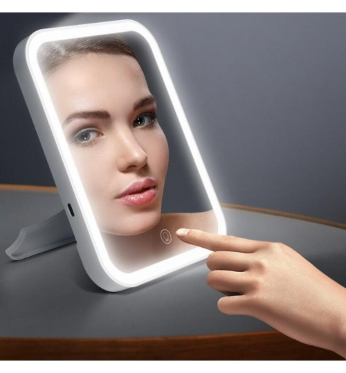 LED Lighted Makeup Mirror Rechargeable Lights