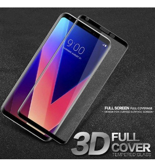 LG V30 FULL Screen covered Tempered Glass Screen Protector