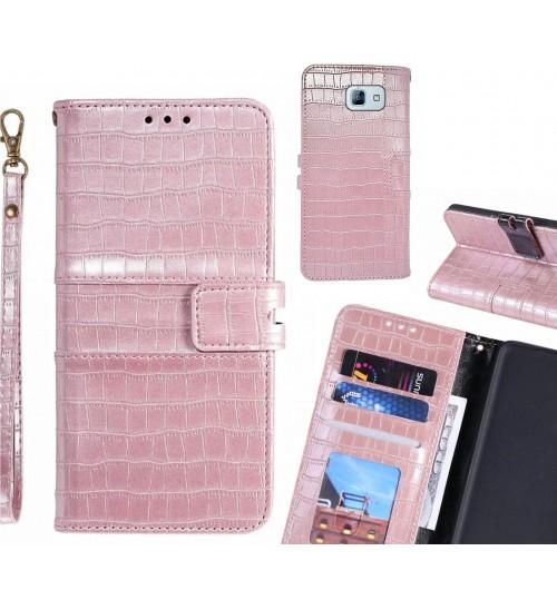 GALAXY A8 2016 case croco wallet Leather case