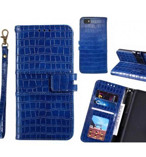 HUAWEI P8 LITE case croco wallet Leather case
