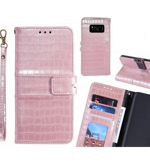 Galaxy S8 case croco wallet Leather case
