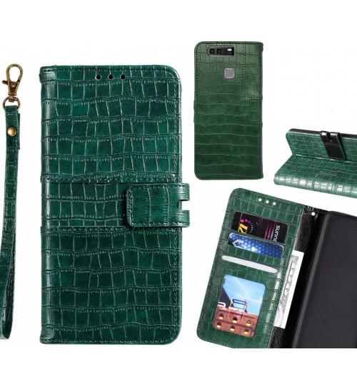 Huawei P9 Plus case croco wallet Leather case
