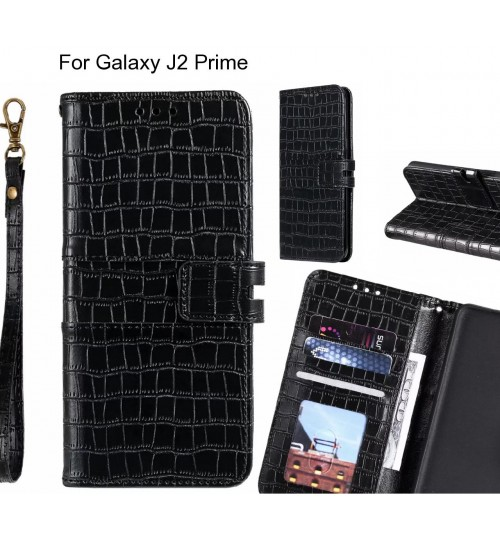 Galaxy J2 Prime case croco wallet Leather case