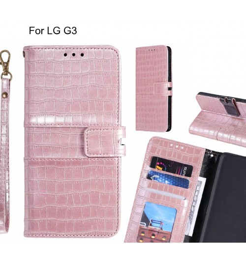 LG G3 case croco wallet Leather case