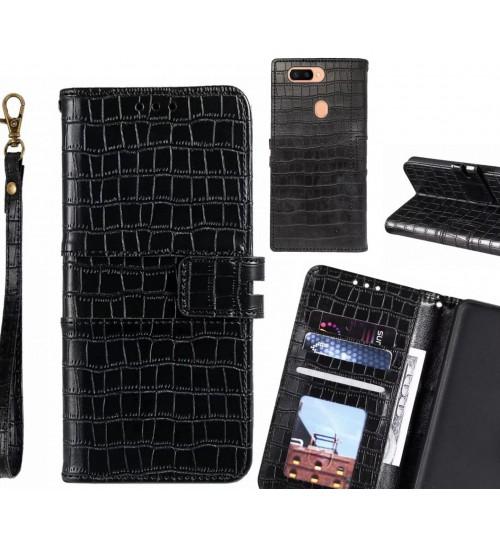 Oppo R11s PLUS case croco wallet Leather case