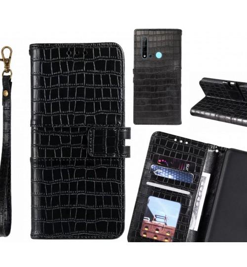 Huawei nova 5i case croco wallet Leather case