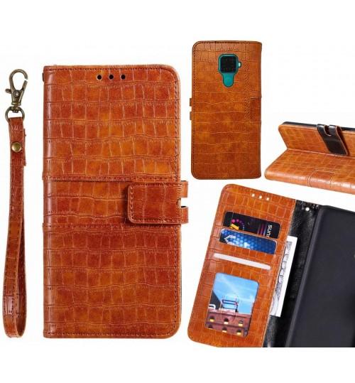 Huawei nova 5i Pro case croco wallet Leather case