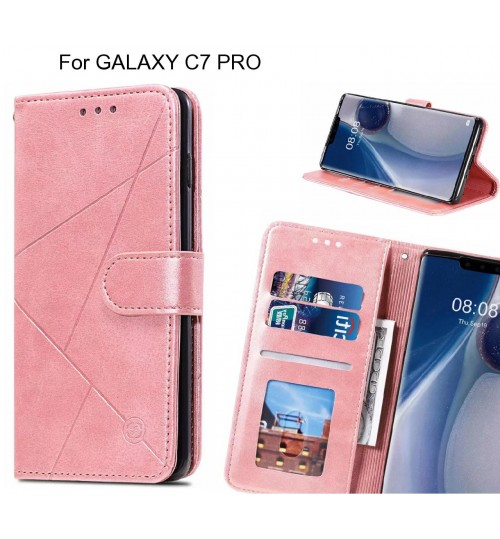 GALAXY C7 PRO Case Fine Leather Wallet Case