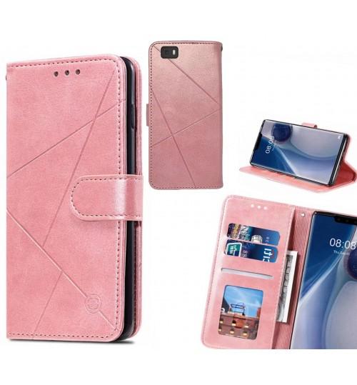 HUAWEI P8 LITE Case Fine Leather Wallet Case