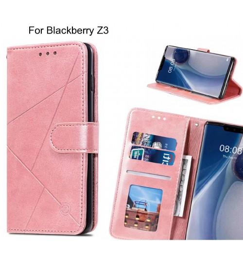 Blackberry Z3 Case Fine Leather Wallet Case