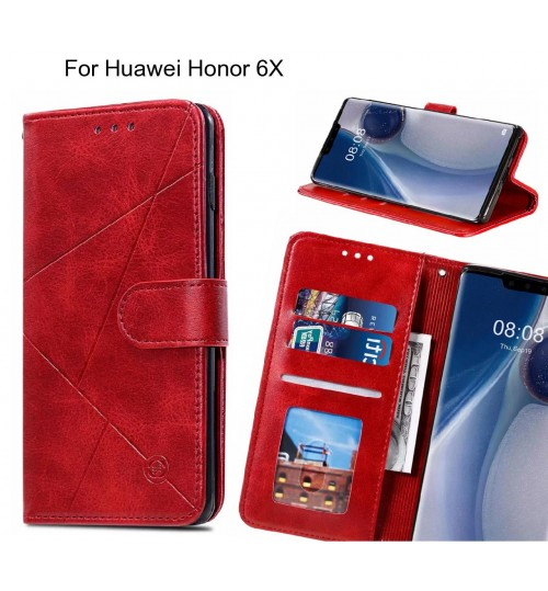 Huawei Honor 6X Case Fine Leather Wallet Case