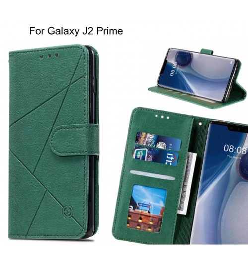Galaxy J2 Prime Case Fine Leather Wallet Case