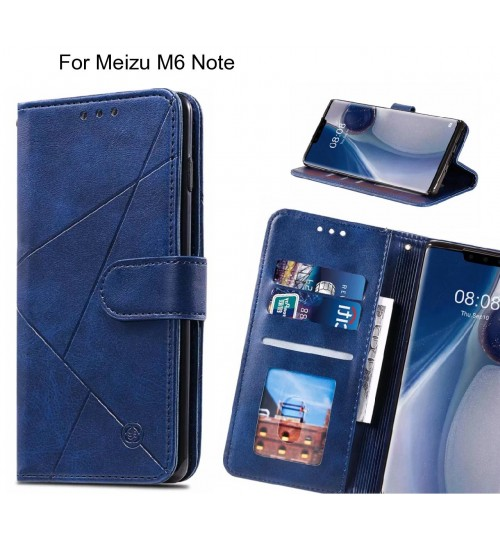 Meizu M6 Note Case Fine Leather Wallet Case