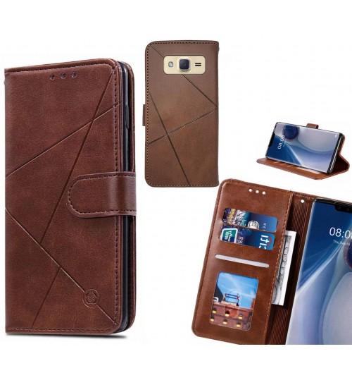 Galaxy J2 Case Fine Leather Wallet Case