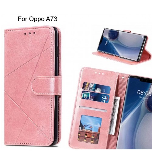 Oppo A73 Case Fine Leather Wallet Case