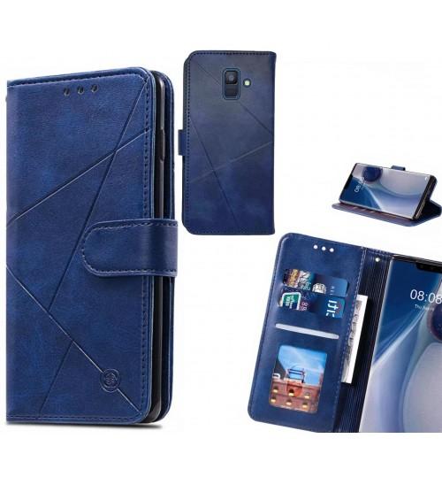 Galaxy A6 2018 Case Fine Leather Wallet Case