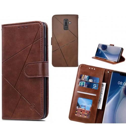 Galaxy J8 Case Fine Leather Wallet Case