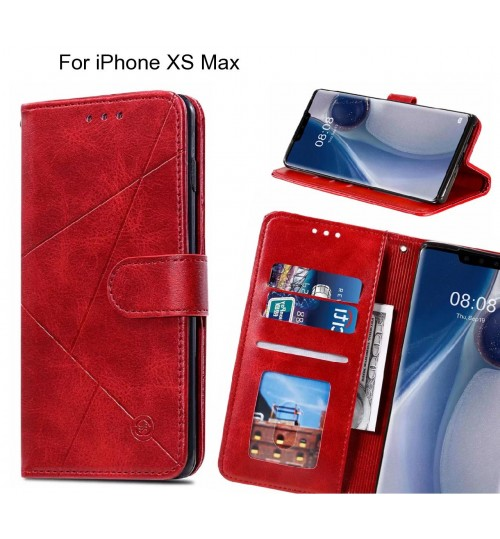 iPhone XS Max Case Fine Leather Wallet Case