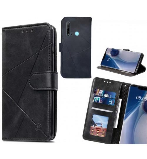 Huawei nova 5i Case Fine Leather Wallet Case