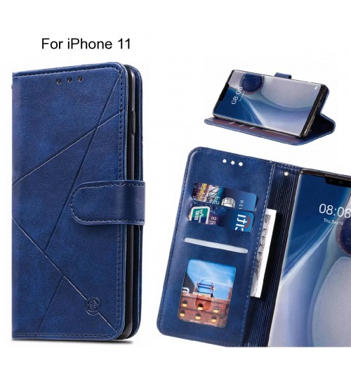 iPhone 11 Case Fine Leather Wallet Case