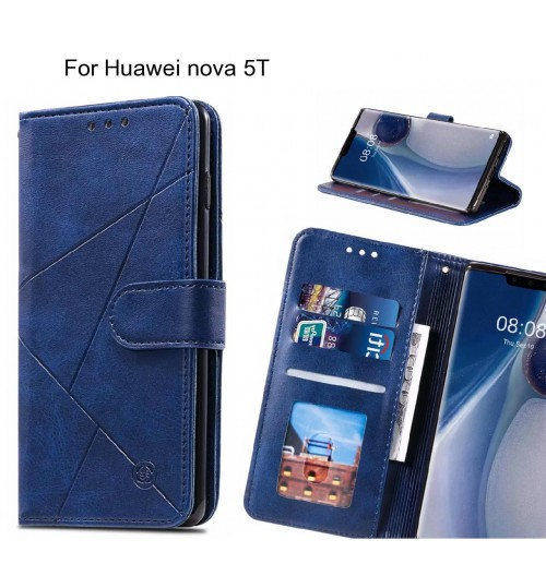 Huawei nova 5T Case Fine Leather Wallet Case