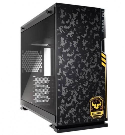 INWIN 101TUF-ROG GAMING MID TOWER WITH TEMPERED GLASS PANEL BLACK