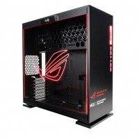 IN WIN 303 RGB ROG SECC STEEL/TEMPERED GLASS CASE ATX MID TOWER DUAL CHAMBERED/HIGH AIR FLOW