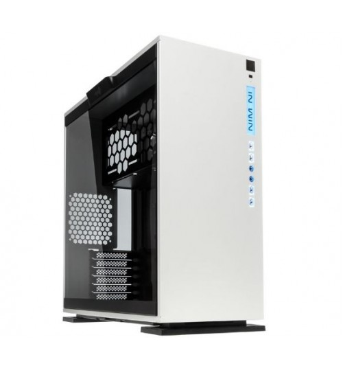 IN WIN 303 WHITE SECC STEEL/TEMPERED GLASS CASE ATX MID TOWER DUAL CHAMBERED/HIGH AIR FLOW