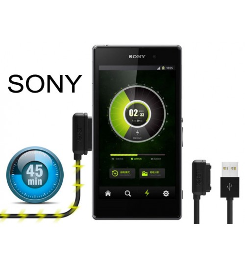 Sony Xperia Z1 Z2 Z3 Magnetic Charger Cable USB