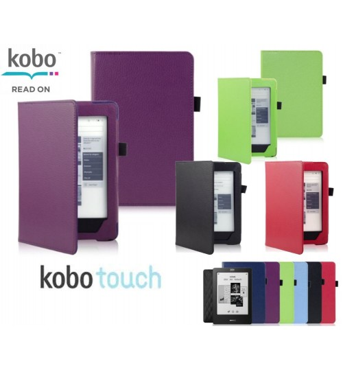 Kobo touch eReader Leather Book Style Cover Case
