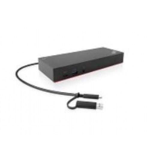 THINKPAD HYBRID USB-C WITH USB-A DOCK- AUSTRALIA NZ FIJI PNG OUTPUT POWER: 90W SUPPORTS DUAL 4K MONITORS