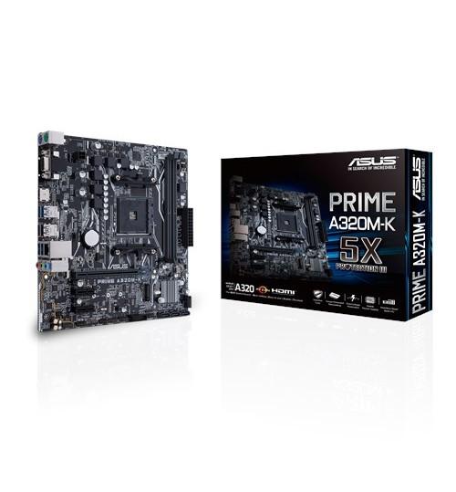 ASUS PRIME A320M-K AMD A320 AM4 SOCKET M-ATX 2XDDR4-3200 PCI-E3.0 SATA3 M.2 RAID HDMI VGA PORTS