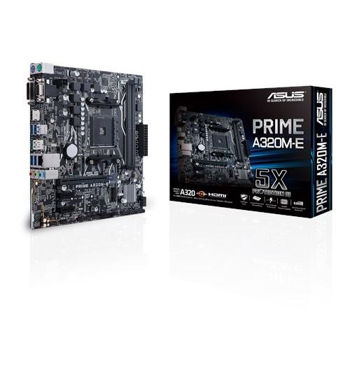 ASUS PRIME A320M-E AMD A320 AM4 SOCKET M-ATX 2XDDR4-3200 PCI-E3.0 SATA3 M.2 RAID HDMI DVI-D VGA PORTS