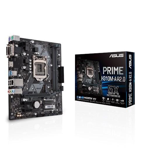 ASUS PRIME H310M-A R2.0 INTEL H310 M-ATX COFFEE LAKE SOCKET 1151 2XDDR4-2666 PCI-E3.0 USB3.1 SATA3 M.2 HDMI/DVI-D/VGA