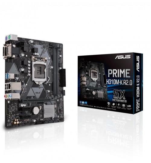 ASUS PRIME H310M-K R2.0 INTEL H310 M-ATX COFFEE LAKE SOCKET 1151 2XDDR4-2666 PCI-E3.0 USB3.1 SATA3 DVI-D/VGA