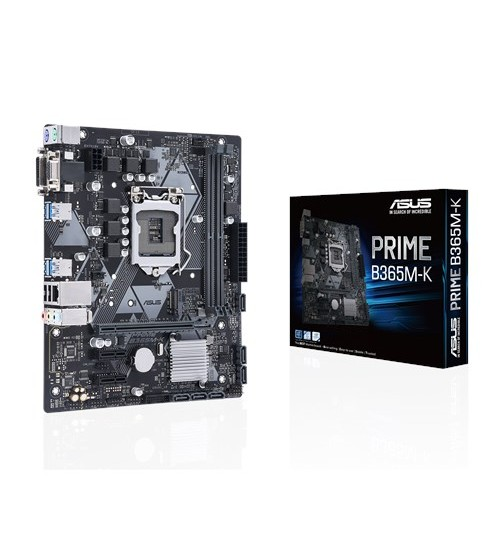 ASUS PRIME B365M-K INTEL B365 M-ATX COFFEE LAKE SOCKET 1151 2XDDR4-2666 PCI-E3.0 USB3.1 SATA3 M.2 DVI-D/VGA