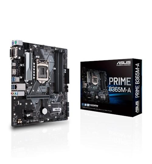 ASUS PRIME B365M-A INTEL B365 M-ATX COFFEE LAKE SOCKET 1151 4XDDR4-2666 PCI-E3.0 USB3.1 SATA3 M.2 HDMI/DVI-D/VGA