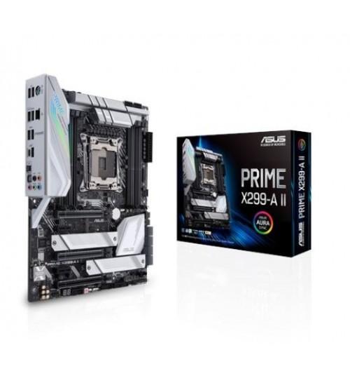 ASUS PRIME X299-A II INTEL X299 SOCKET 2066 INTEL X-SERIES ATX 8XDDR4-4266 PCI-E3.0 M.2 SATA3 RAID USB3.2