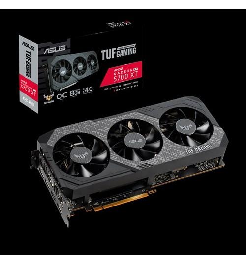 ASUS TUF 3-RX5700XT-O8G-GAMING TUF GAMING X2 RADEON RX5700XT OVERCLOCKED 8GB GDDR6 PCI-E4.0 HDMI DISPLAY PORT