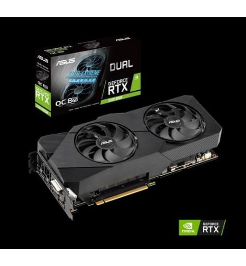 ASUS DUAL-RTX2060S-O8G-EVO DUAL GeForce RTX 2060S SUPER EVO OVERCLOCKED 8GB  GDDR6 PCI-E 3.0 DVI-D HDMI DISPLAY PORT