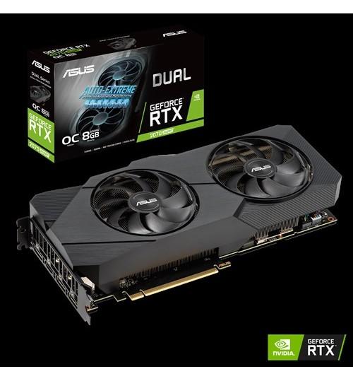 ASUS DUAL-RTX2070S-O8G-EVO DUAL GeForce RTX 2070S SUPER EVO OVERCLOCKED 8GB  GDDR6 PCI-E 3.0 HDMI DISPLAY PORT