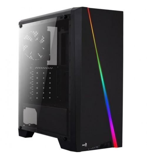 AEROCOOL CYLON BLACK RGB LED MIDI TOWER GAMING PC CASE USB 3.0